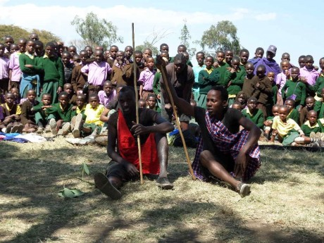 Ace drama group educating attendees through maasai lifestyle