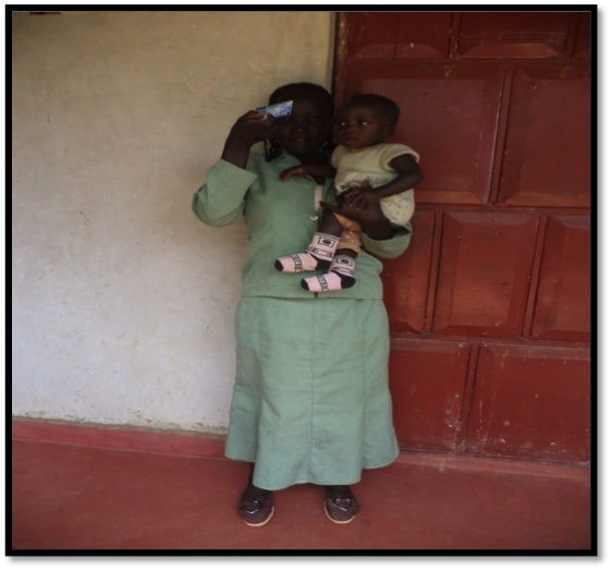 Florence and her daughter Karen during a check up at Lurare Dispensary
