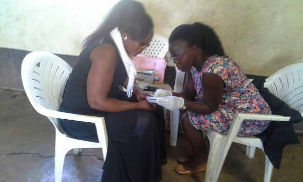 HIV Testing at the International Youth Day Event