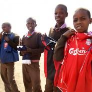 Pupils receiving kit