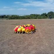 Prayer before the game Lemuguru Eton 1