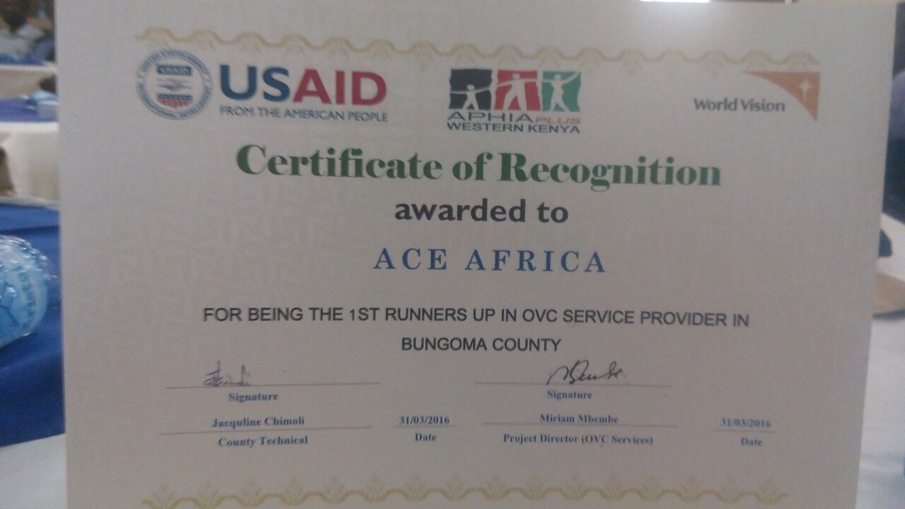 Certificate of recognition_USAID kenya