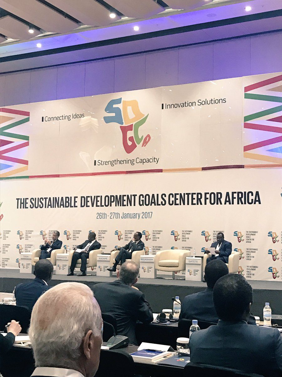 The panel, including His Excellency Paul Kagame, President of the Republic of Rwanda.
