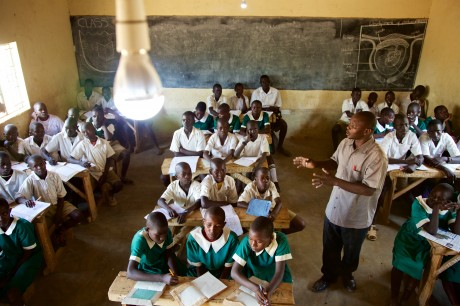Electricity allows classrooms to be lit and lessons to last longer.