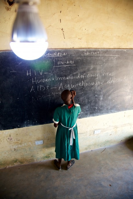 Lighting in classrooms helps aid teaching and learning.