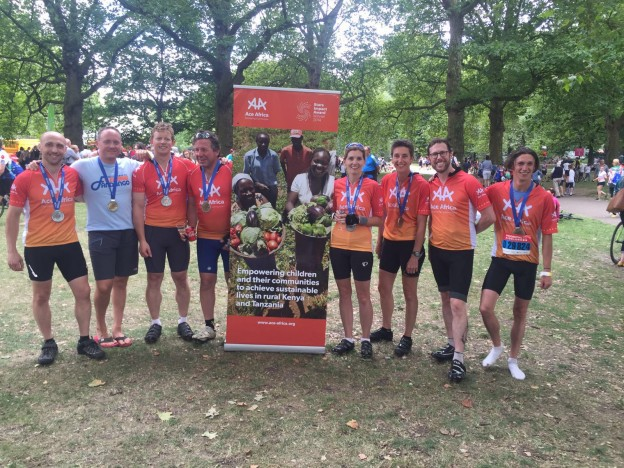 Team in Green Park post race