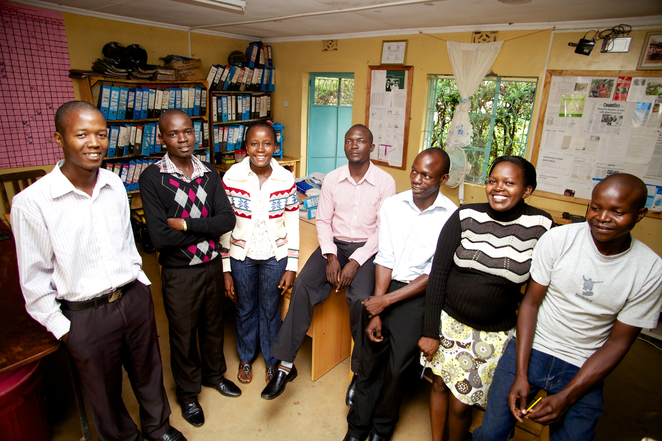 Siaya Team - Christopher in the middle