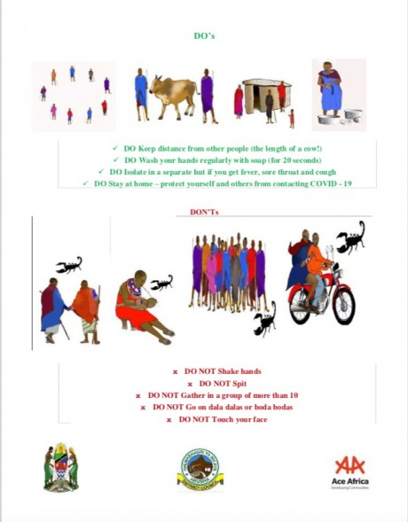 'Do's and Don'ts' poster for the Maasai community